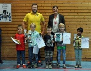 Siegerehrung U8 Höhenkirchen Jugendeinzelturnier